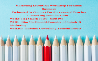 Marketing Essentials Workshop For Small Business, Sydney, 24 March, 2020.